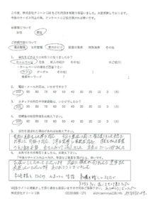 愛知県岡崎市 遺品整理をご依頼のアンケート