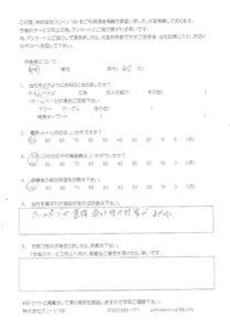 愛知県豊田市 家片付けをご依頼のアンケート