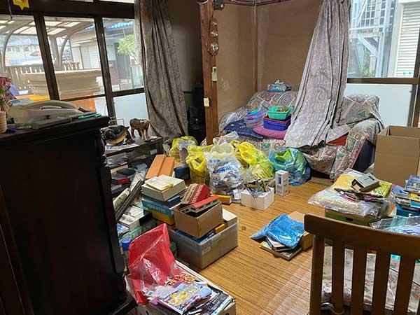 愛知県東海市の空き家遺品整理 I様の作業前3