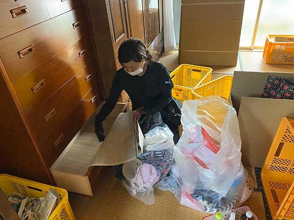 愛知県一宮市の空き家の遺品整理 H様の作業前1