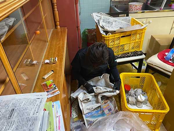 愛知県一宮市の空き家の遺品整理 H様の作業前2