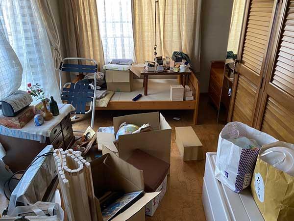 愛知県名古屋市の遺品整理   I様の作業前1