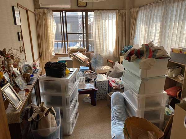 愛知県名古屋市の遺品整理   I様の作業前2