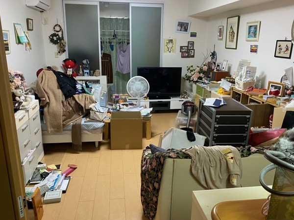 愛知県知多地域の遺品整理・特殊清掃 W様の作業前1